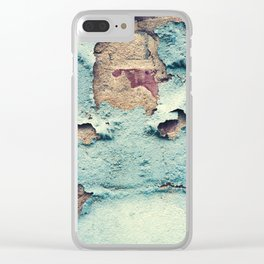 Turquoise Grunge Texture 3 Clear iPhone Case