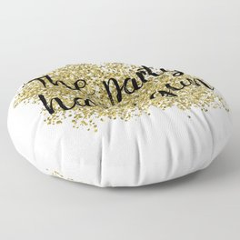 The party has begun - golden jazz Floor Pillow