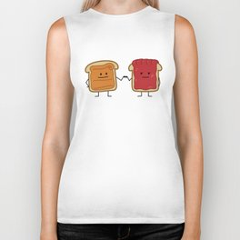 Peanut Butter and Jelly Fist Bump Biker Tank