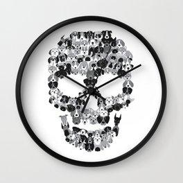 Skull Dogs Wall Clock