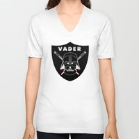 sport V-neck T-shirts featuring Vader sport logo by Buby87