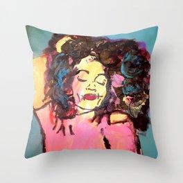 I am Black Girl Magic Throw Pillow