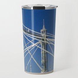 Albert Bridge on the Thames in London (2) Travel Mug