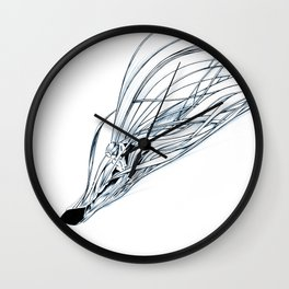 'Snowboarder in Ribbons of Snow II' Wall Clock