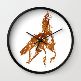Horse Abstract I Wall Clock