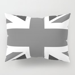 UK Flag, High Quality 1:2 Grayscale Pillow Sham