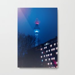 Berlin TV Tower at Night Metal Print