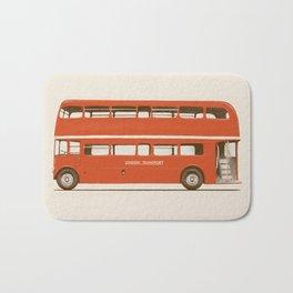 Red London Bus Bath Mat