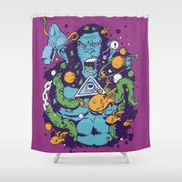 ape Shower Curtains featuring Triangle Ape by Luiz Fogaça
