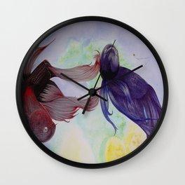 Japanesse Fighting Fish Wall Clock