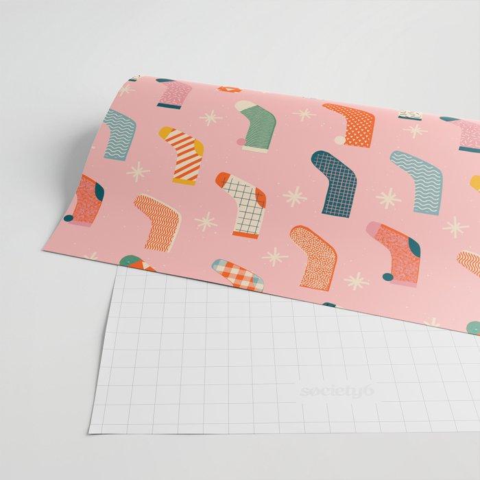 Christmas socks Wrapping Paper