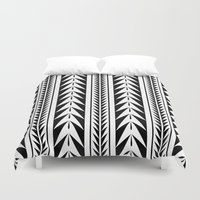 moroccan Duvet Covers featuring Moroccan Stripes by Caitlin Workman