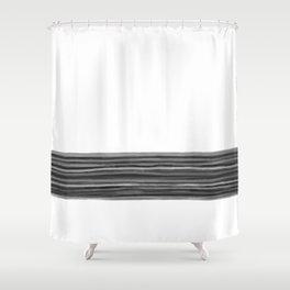 Horizon (white) Shower Curtain