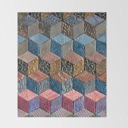Tumbling Blocks #3 Throw Blanket