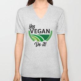 Yes Vegan Do It Unisex V-Neck