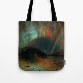 Aurora Borealis by Frederic Edwin Church Tote Bag