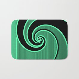 green wave Bath Mat