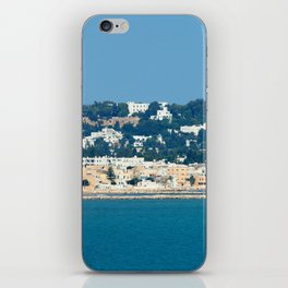 Breathtaking view of the city of Tunis from the sea iPhone Skin