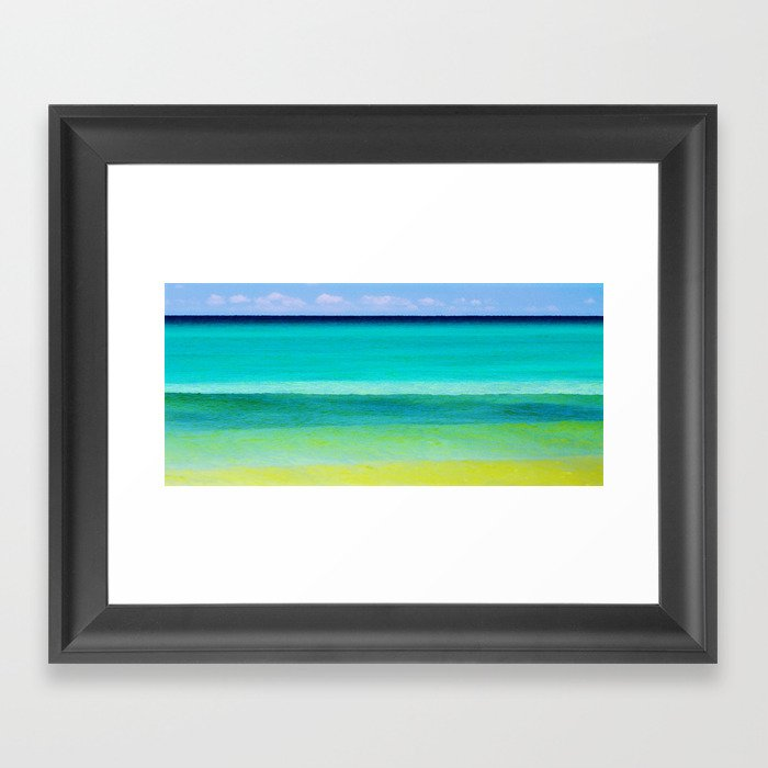 the colors of the sea Framed Art Print