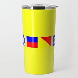 Nautical Flags | MEOW  Travel Mug