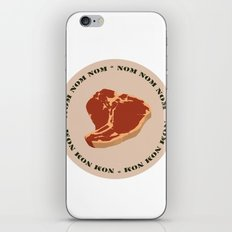 Steak...Nom Nom Nom! iPhone & iPod Skin