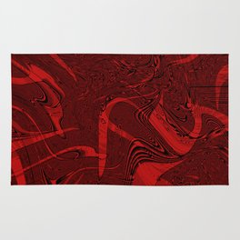 Red abstract marble textures Rug