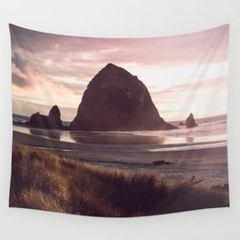 Cannon Beach Sunset Wall Tapestry