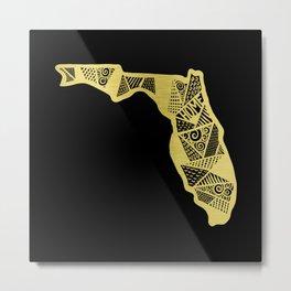 Home in Florida Gold Metal Print