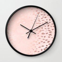 Modern Polka Dots Pink Wall Clock