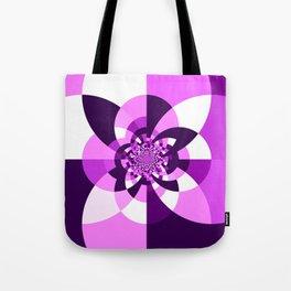 Purple Kaleidoscope Mandala Tote Bag