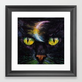 Moon Cat Framed Art Print