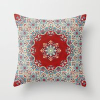 whale Throw Pillows featuring Mandala Nada Brahma  by Elias Zacarias