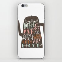 coffe iPhone & iPod Skins featuring COFFE & LOVE by Matthew Taylor Wilson