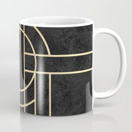 Art Deco Black Marble Coffee Mug