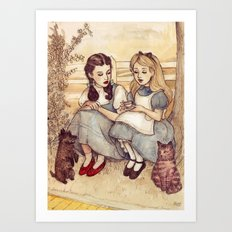 Dorothy and Alice Art Print