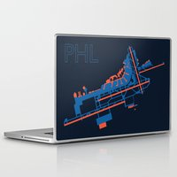60s Laptop & iPad Skins featuring Philadelphia (PHL) - 60s by Kyle Rodgers