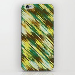 green yellow and brown abstract texture background iPhone Skin