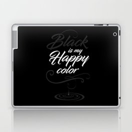 Black is may happy color Laptop & iPad Skin