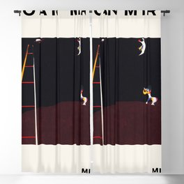 Joan Miro - Dog Barking at the Moon - Exhibition Poster - Art Print - Vintage Paintings Blackout Curtain