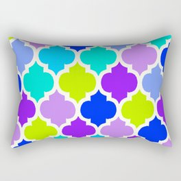 Moroccan BLUE GREEN AND PURPLE Rectangular Pillow