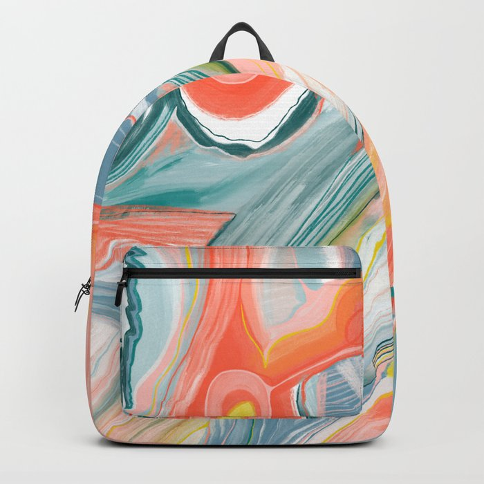Summer Carnival Colorful Abstract Art Backpack