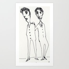 FRIENDS_SERIES_1 Art Print