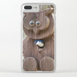 Tree Swallow in Bird House Clear iPhone Case