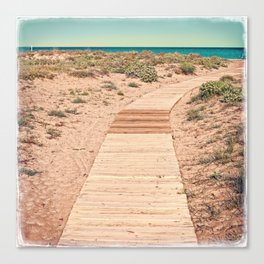 A Beautiful Spring Day at the Beach Canvas Print