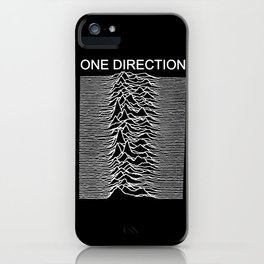 One Direction / Joy Division's Unknown Pleasures iPhone Case