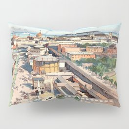 Amazing View from the Ferris Wheel in Chicago 1893 Pillow Sham