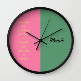 What Is This Feeling? Wicked Wall Clock