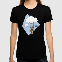 Squirrel swinging on a cloud T-shirt