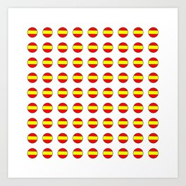 Flag of spain 13-spain,espana, spanish,plus ultra,espanol,Castellano,Madrid,Barcelona Art Print