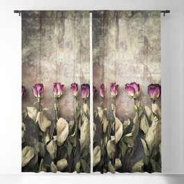 Five dried roses Blackout Curtain